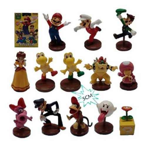 Combo Muñecos De Mario Bros, Kit Mario 13 Figuras