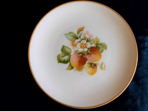 Hermoso Plato De Porcelana Alemana Hutschenreuther.fresas