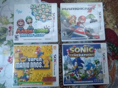 Juegos Para Nintendo 3ds 100% Originales, Mario Kart, Sonic