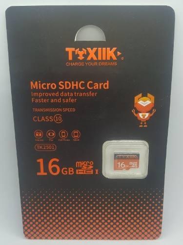 Memoria Micro Sd 16gb Toxiik Clase 10