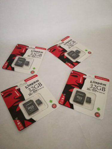 Memoria Micro Sd Kingston 32gb Clase 10 Kingston Nueva