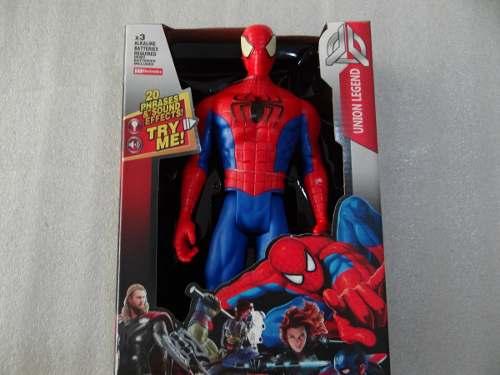 Muñeco Spiderman Amaizing Figura Con Luces Y Sonidos