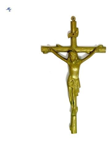 Vintage Crucifijo De Bronce