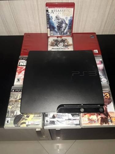 Play Station 3 De 320 Gb. Con 1 Control Y 8 Juegos Original