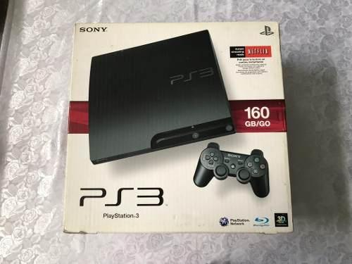 Playstation 3 Slim 160 Gb Con 11 Juegos Y 2 Extensiones