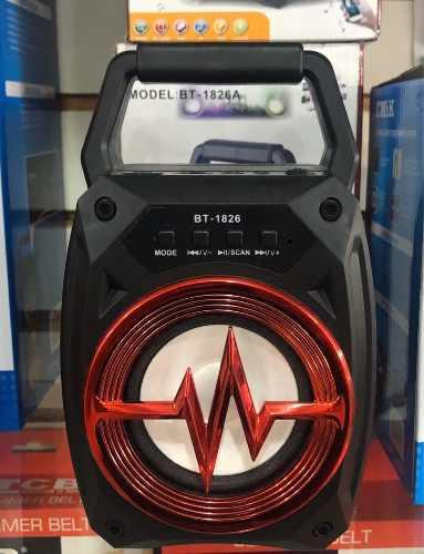 Corneta Bluetooth Con Radio Usb Recargable Luminosa