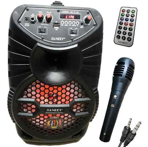 Corneta Recargable. Bluetooth, Usb Radio, Micrófono,
