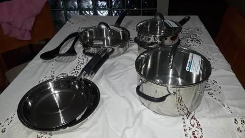 Juego De Ollas De Cocina En Acero Inoxidable Cuisinart Pro,