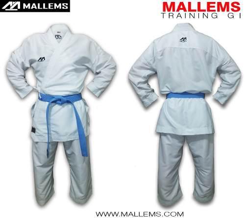 Karategi Kimono De Entrenamiento Liviano Mallems -1 / 1.10mt