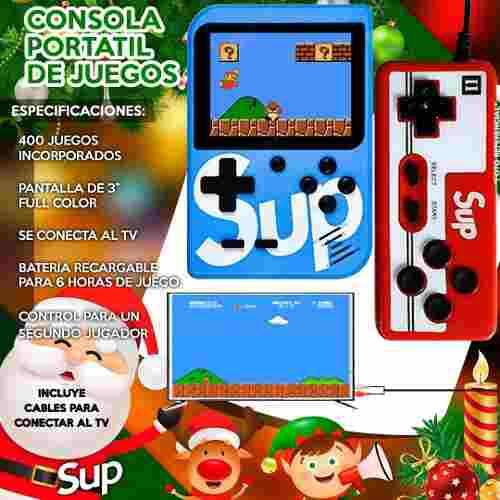 Nintendo Sup Portatil 400 Juegos Retro Video Game +control