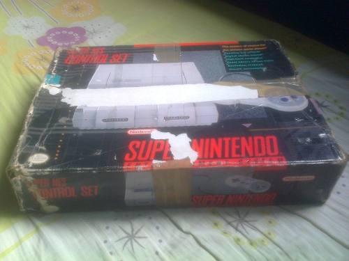 Super Nintendo En Caja,control Set