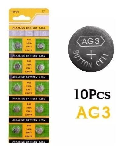 Pilas Alkaline Bateria Para Reloj Ag3 / Lr41 Blister De 10 U