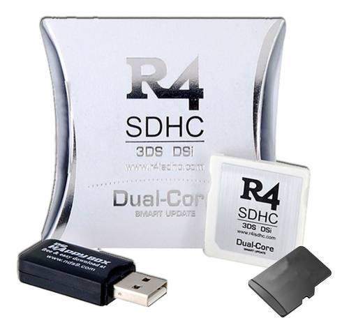 R4i Dual Core + Micro Sd 4 Gb Sorpresa Gold