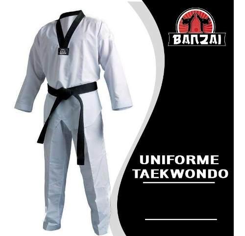 Uniforme Taekwondo Talla 7 Al 9 Marca Banzai