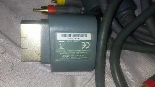 Cable Audio Video Para X Box 360, Casi Nuevo