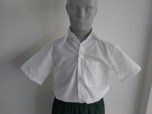 Camisas Escolares Blancas Dacron 2 4 6 8 Tienda Fisica