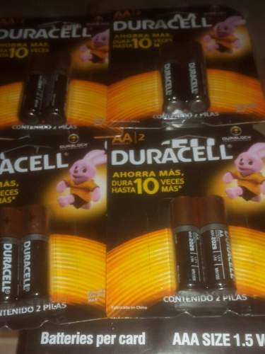 Pilas Duracell Triple A Y Doble A Calidad Duracell Blister