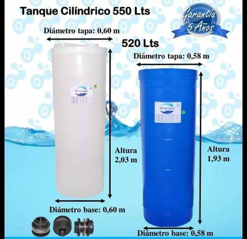 Tanque De Agua Cilindrico 520 Litros Para Apartamento Tienda