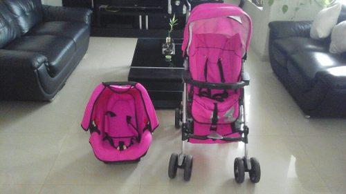 Coche Y Porta Bebé Marca Flipper En Excelentes Condiciones