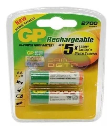 Pilas Baterias Gp Recargables Doble Aa De 2700 Mah Nuevas