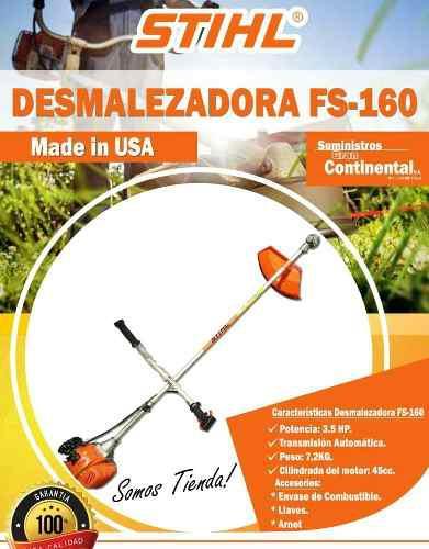 Desmalezadora O Guaraña Stihl Fs160 Nuevas 52cc (la Grande)