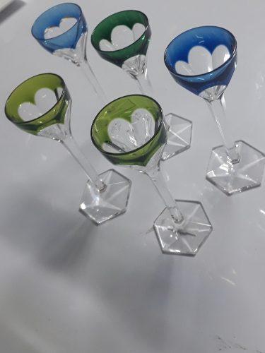 Juego De Copas De Colores De Cristal