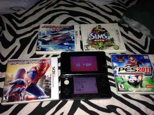 Nintendo Ds 3d En Perfecto Estado Original Y 4 Juegos Origi