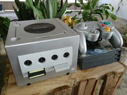Nintendo Gamecube + 3 Juegos Originales Y Control 20 Verdes
