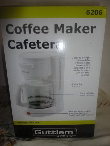 Cafetera De 12 Tazas Guttlem 6206 Blanca