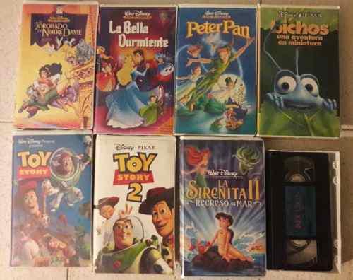 Dos (2) Equipos De Vhs Y Peliculas De Disney (originales)