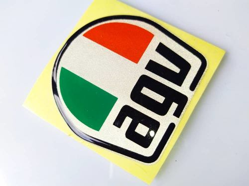 Emblema Agv Reflectivo, Alto Relieve 3d Para Tu Casco, Moto.