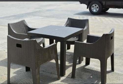 Mesa Comedor De 4 Y 6 Puestos Tipo Malla O Ratan