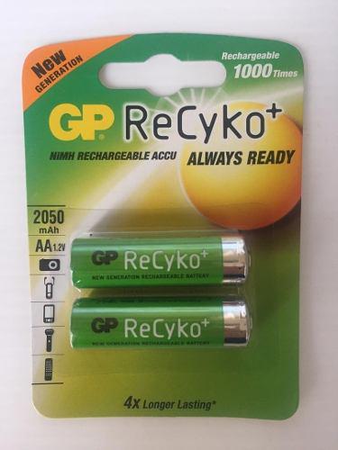 Baterias O Pilas Recargables Gp Recyko Doble Aa