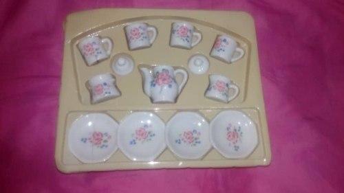 Juego De Tazas De Cafe Te En Porcelana Ceramica Para Niñas