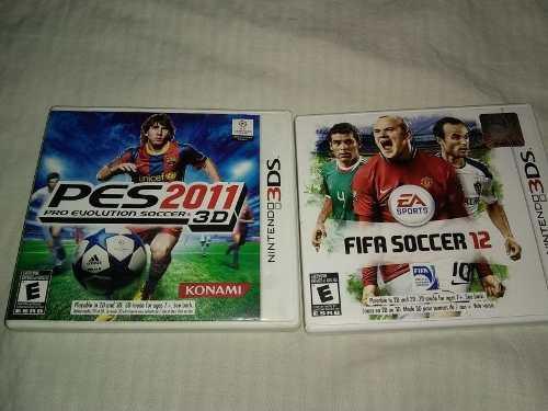 Pes 11 Y Fifa 12 Para Nintendo 3ds Xl (10 X Los 2)