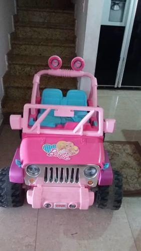Carro Grande Eléctrico De Juguete De Niña Barbi
