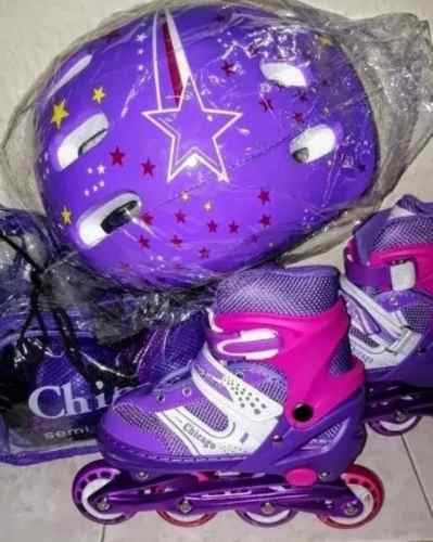 Kit Patines Lineales Chicago Ajustables