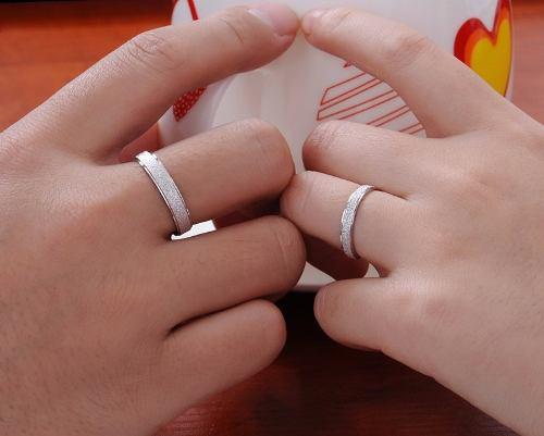 Par De Aros D Bodas,o Matrimonio En Plata Ley 950 Mas Pura