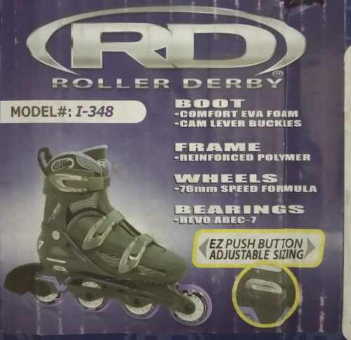 Patines Roller Derby Modelo I-348, Talla Ajustable 6-9