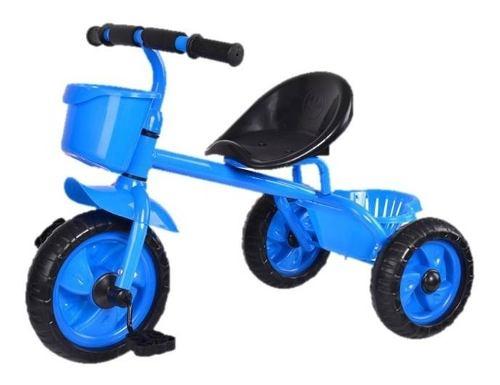 Triciclo Azul Rosado Niños Niñas Infantil Cesta Maleta New