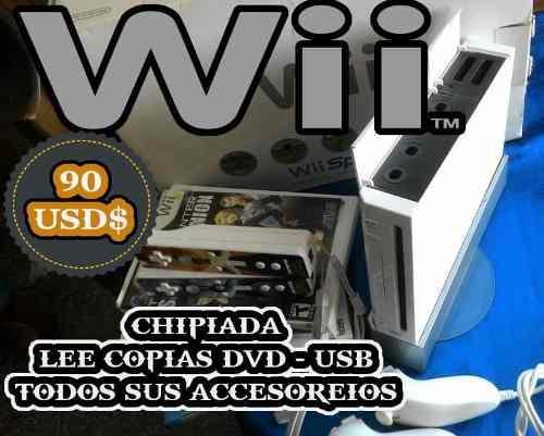 Wii Nuevo Con Todos Sus Accesorios Originales