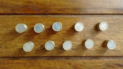 Lote De Monedas Bimetálicas De Bs 1