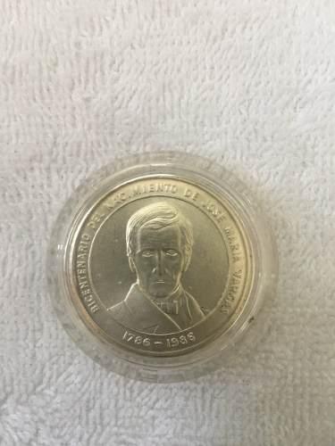 Moneda De Plata Del Natalicio Del Dr Jose Maria Vargas