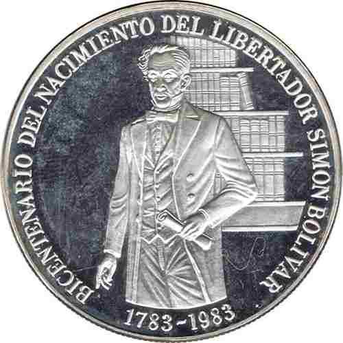 Moneda Plata Coleccion Bicentenario Simon Bolivar 100