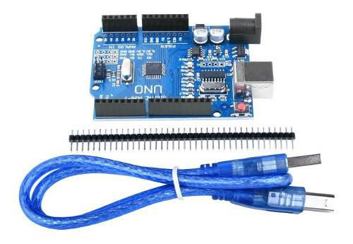 Arduino Uno Atmega 328p Ch340g + Cable Usb + Pines Header