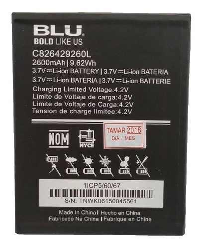 Bateria Pila Blu Advance 5.2 A230q C826429260l 2600mah Nueva