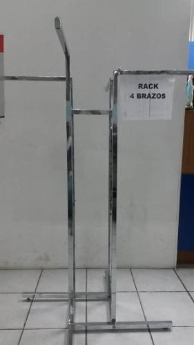 Estante Exhibidor Rack Cromados Para Ropa