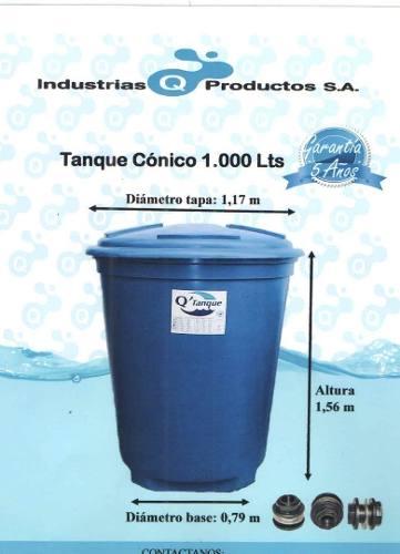 Tanque De Agua Conico  Litros Nuevo Somos Tienda Oferta