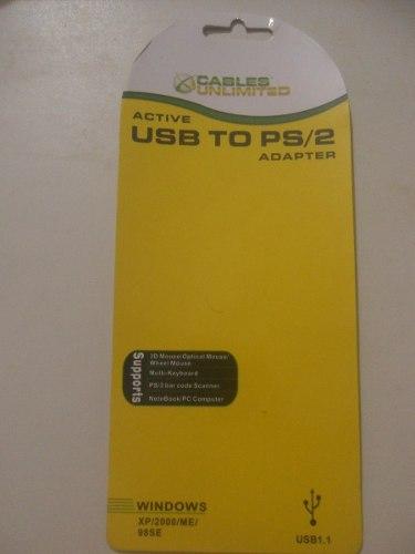 Adaptador De Usb Para Ps2 Teclado Y Mouse