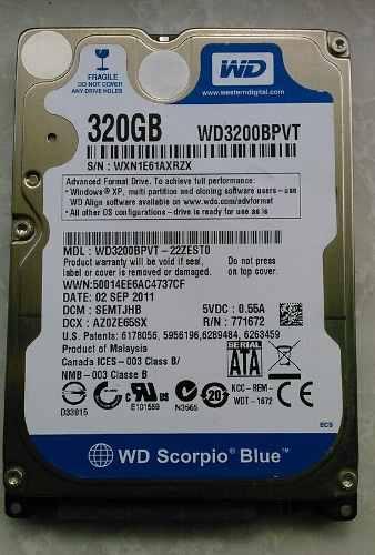 Disco Duro De 320gb Sata Laptop